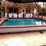Swimming-Pool und dem Bedu-Haus